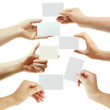 Card in hand Royalty Free Stock Photo