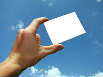 Card in a hand Stock Photos