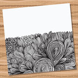 Card with hand drawn abstract doodles. Stock Photography