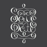 Card with hand drawn typography design element for greeting card Stock Image