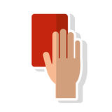 Card and hand of soccer sport design Royalty Free Stock Photography