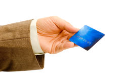 Card in hand Stock Image