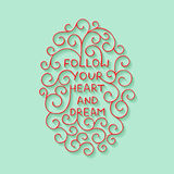 Card with handdrawn typography design element for greeting cards, posters and print. Stock Photography