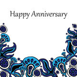 Card Happy anniversary Stock Photography