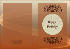 Card Happy Birthday Royalty Free Stock Images