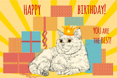 Card Happy Birthday. Royalty Free Stock Photo