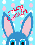 Card happy Easter, ears and eyes Royalty Free Stock Photography