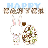 Card happy easter. Vector illustration Royalty Free Stock Photography
