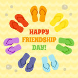 Card for Happy Friendship day. Royalty Free Stock Images