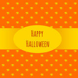 Card happy Halloween on an orange background Stock Photos