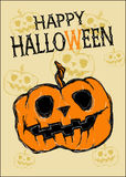 Card Happy Halloween. Stock Image