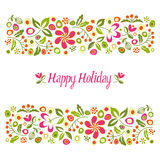 Card happy holiday. Royalty Free Stock Image