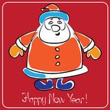 Card HAPPY NEW YEAR. 2015 stock illustration