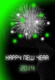2014 card. Happy new year 2014 card digital Stock Photography