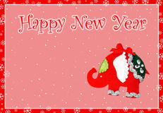 Card Happy New Year Royalty Free Stock Photo