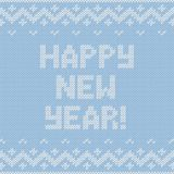 Card of Happy New Year 2015 with knitted texture. Stock Images