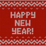 Card of Happy New Year 2015 with knitted texture. Stock Photography