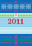 Card Happy New Year! Postcard. Background. Abstract Christmas card with ornaments on a blue background. Postcard Stock Photo