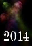 2014 card. Happy new year 2014 card with universe theme Stock Photography