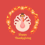 Card Happy Thanksgiving Stock Image