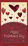 Card Happy Valentine`s Day Stock Photography