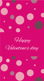 Card Happy Valentine's Day. Royalty Free Stock Image