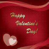 Card - happy valentine's day - vector Royalty Free Stock Photo