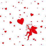 Card Happy Valentine`s Day. Stock Images