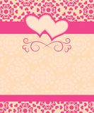 Card Happy Valentine's Day and wedding day Stock Photography