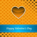 Card  of Happy Valentines day Royalty Free Stock Photography