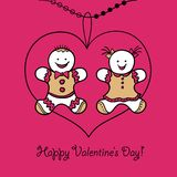 Card Happy Valentines Day. Vector illustration Royalty Free Stock Image