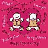 Card Happy Valentines Day. Vector illustration Royalty Free Stock Images