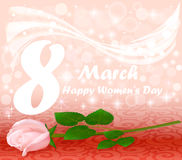 card Happy Women`s Day with a flower Royalty Free Stock Photography