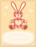 Card with the hare for baby shower 2 Stock Images