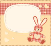 Card with the hare for baby shower Stock Photo