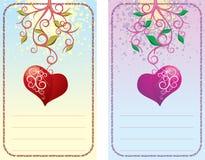 Card with heart stock photos
