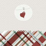 Card with heart Royalty Free Stock Photos