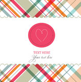 Card with heart Stock Photography