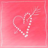 Card with heart Royalty Free Stock Photo