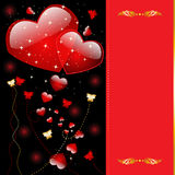 Card with heart Stock Photo