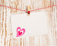 Card with heart Royalty Free Stock Photography