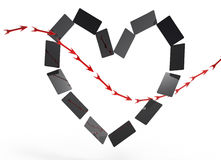 Card heart and arrow Stock Images