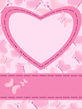 Card with heart and butterflies Royalty Free Stock Photography