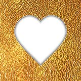 Card with heart. On golden background.Vector illustration Royalty Free Stock Image