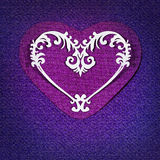 Card with heart Royalty Free Stock Images