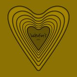 Card heart gold royalty free illustration