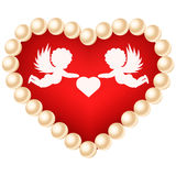 Card with heart. Royalty Free Stock Photography