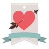 Card of heart icon Royalty Free Stock Photos