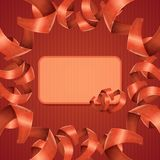 Card Heart Ribbon Stock Images
