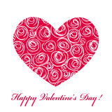 Card with heart and roses Royalty Free Stock Images
